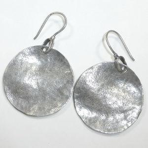 Silpada W1666 Sterling Silver Wavy Discs Earrings